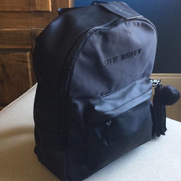 Steve Madden Handbags - NWT Steve Madden large black backpack